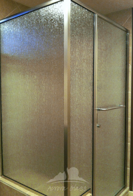 Decorative Glass Anchorage Shower Doors Bath Remodel